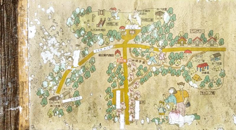 乙羽岳森林公園の地図