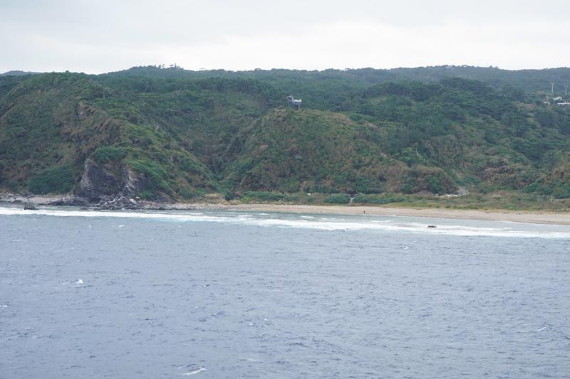 辺戸岬から見えるヤンバルクイナ展望台