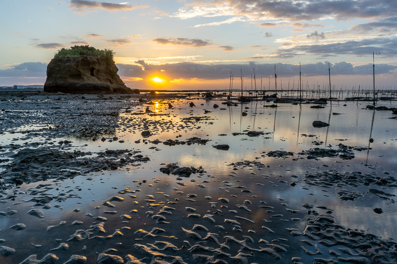 泡瀬干潟の朝日