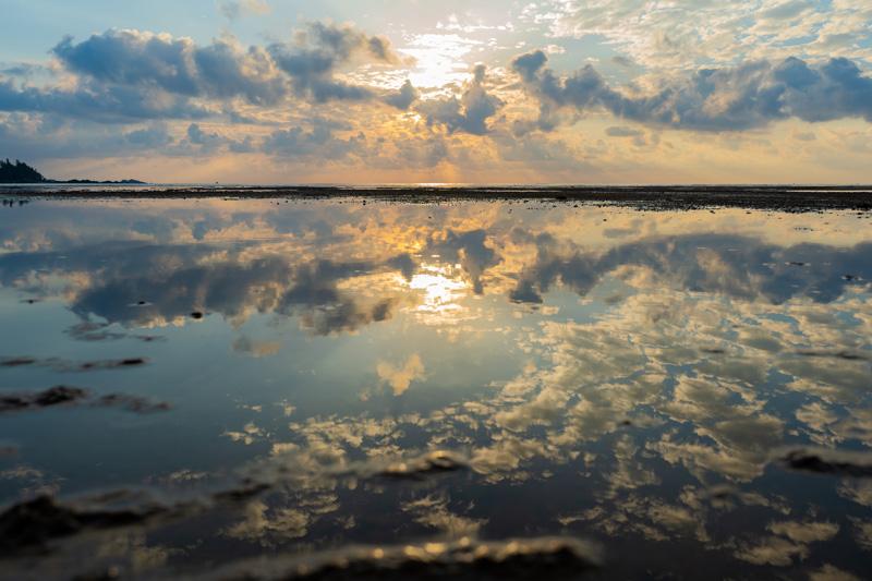 潟原干潟の絶景