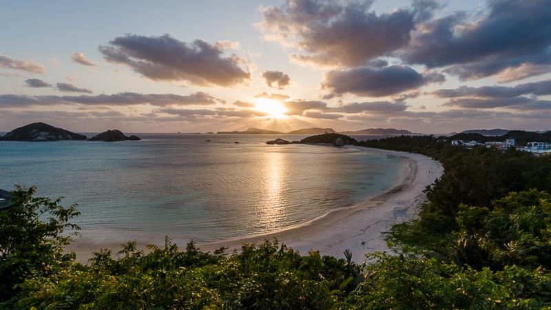 阿波連ビーチの夕日