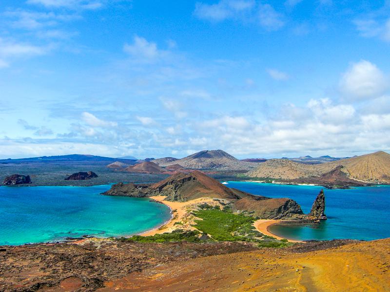 ガラパゴス諸島のバルトロメ島